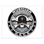 USCG Musician Skull MU Small Poster