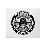 USCG Musician Skull MU Throw Blanket