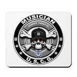 USCG Musician Skull MU Mousepad