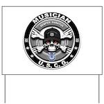 USCG Musician Skull MU Yard Sign