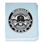 USCG Musician Skull MU baby blanket