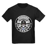 USCG Musician Skull MU Kids Dark T-Shirt