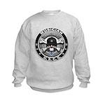 USCG Musician Skull MU Kids Sweatshirt