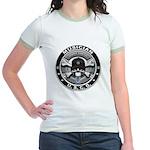 USCG Musician Skull MU Jr. Ringer T-Shirt