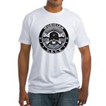 USCG Musician Skull MU Fitted T-Shirt