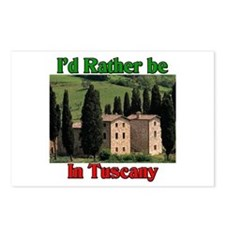 I'd Rather Be In Tuscany Postcards (Package of 8)
