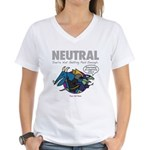NEUTRAL Women's V-Neck T-Shirt