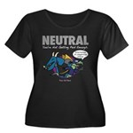 NEUTRAL Women's Plus Scoop Neck T-Shirt (black)