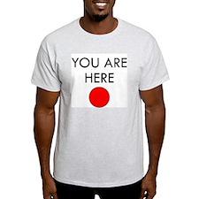 U R Here Ash Grey T-Shirt
