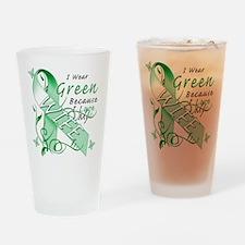 I Wear Green I Love My Wife Drinking Glass