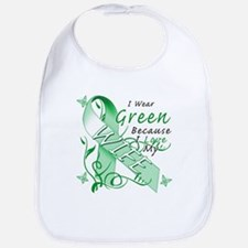 I Wear Green I Love My Wife Bib