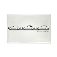 Mercedes 450 SL Type 107 Rectangle Magnet