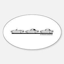 Mercedes 450 SL Type 107 Sticker (Oval)