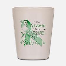 I Wear Green I Love My Son Shot Glass