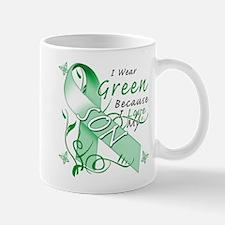 I Wear Green I Love My Son Mug