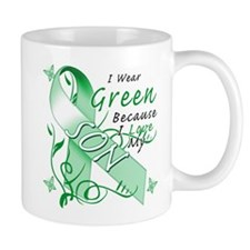 I Wear Green I Love My Son Small Mug
