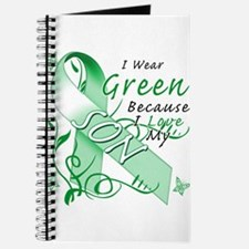 I Wear Green I Love My Son Journal