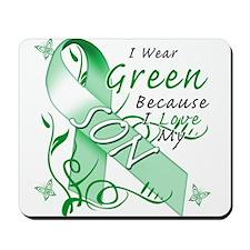 I Wear Green I Love My Son Mousepad