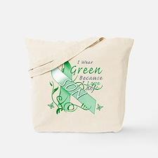 I Wear Green I Love My Son Tote Bag