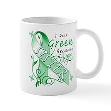 I Wear Green I Love My Sister Mug