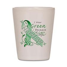 I Wear Green I Love My Nephew Shot Glass