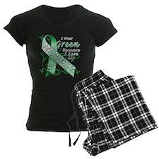 I Wear Green I Love My Nephew pajamas