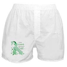 I Wear Green I Love My Mom Boxer Shorts