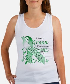 I Wear Green I Love My Mom Women's Tank Top