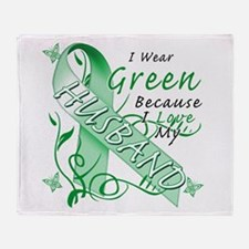 I Wear Green I Love My Husban Throw Blanket