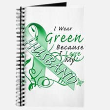 I Wear Green I Love My Husban Journal