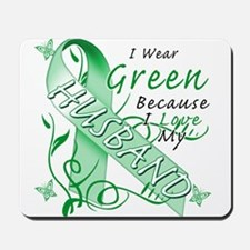 I Wear Green I Love My Husban Mousepad