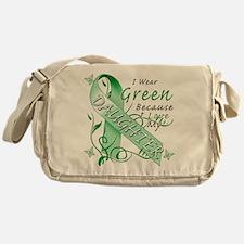 I Wear Green I Love My Daught Messenger Bag