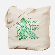 I Wear Green I Love My Daught Tote Bag