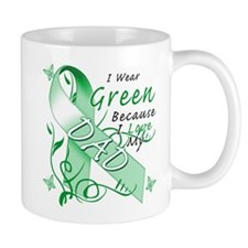 I Wear Green I Love My Dad Mug