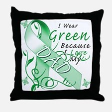 I Wear Green I Love My Dad Throw Pillow