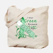 I Wear Green I Love My Dad Tote Bag