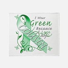 I Wear Green I Love My Cousin Throw Blanket