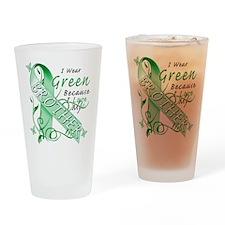 I Wear Green I Love My Brothe Drinking Glass