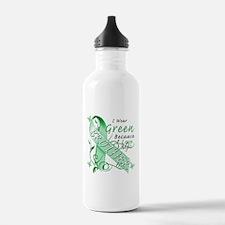 I Wear Green I Love My Brothe Water Bottle