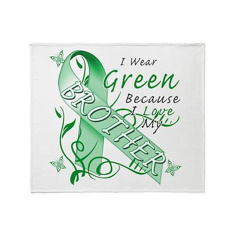 I Wear Green I Love My Brothe Throw Blanket