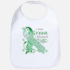I Wear Green I Love My Brothe Bib