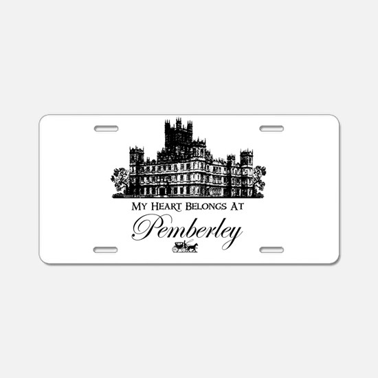 Jane Austen Gift Aluminum License Plate