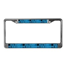 All Glory to Him License Plate Frame