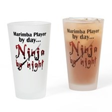 Marimba Ninja Drinking Glass