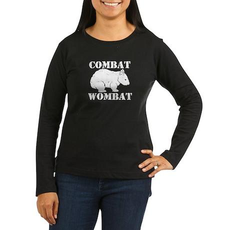 Combat Wombat Women's Long Sleeve Dark T-Shirt