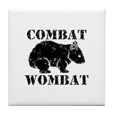 Combat Wombat Tile Coaster