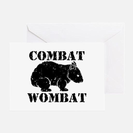 Combat Wombat Greeting Card