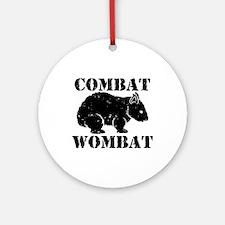 Combat Wombat Ornament (Round)