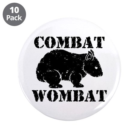 "Combat Wombat 3.5"" Button (10 pack)"