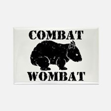 Combat Wombat Rectangle Magnet